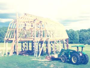 New Barn Under Construction